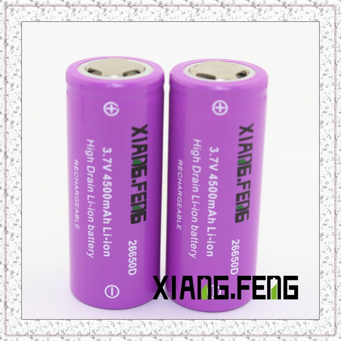 3.7V Xiangfeng 26650 4500mAh Icr Rechargeable Lithium Battery Battery for Vapor