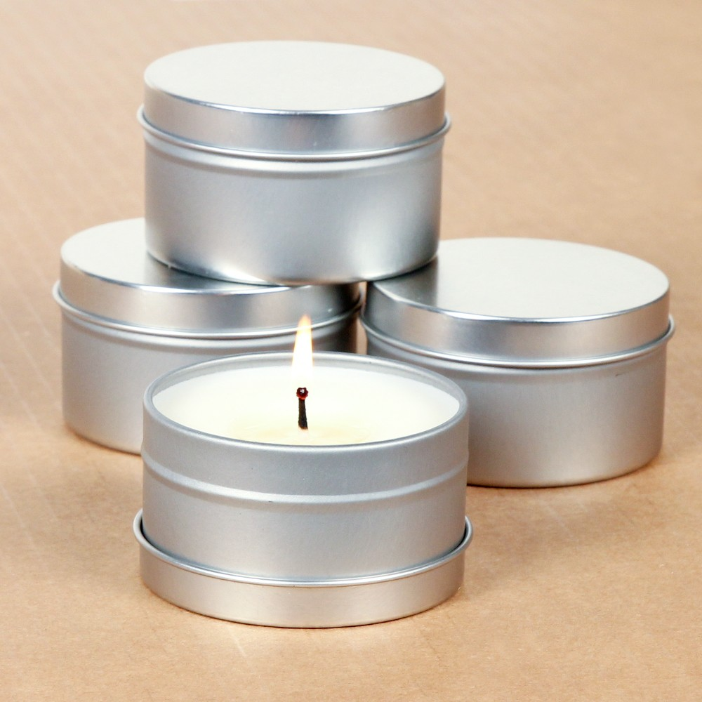 Metal Tin Box Candle