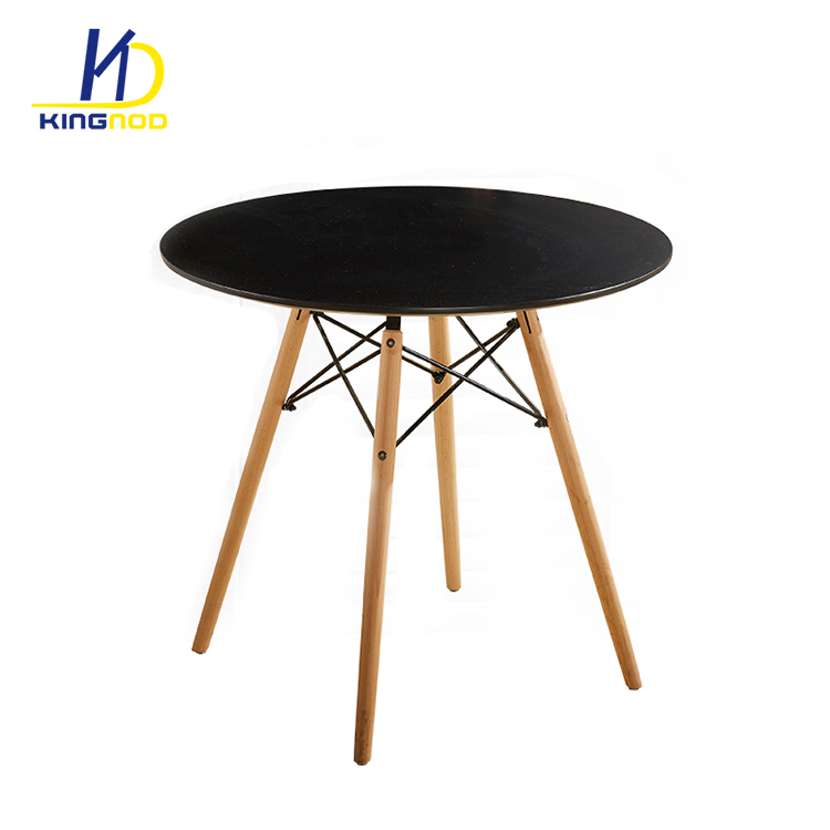 China Supplier Wholesale Emes Leisure Table Modern MDF Round Dining Table