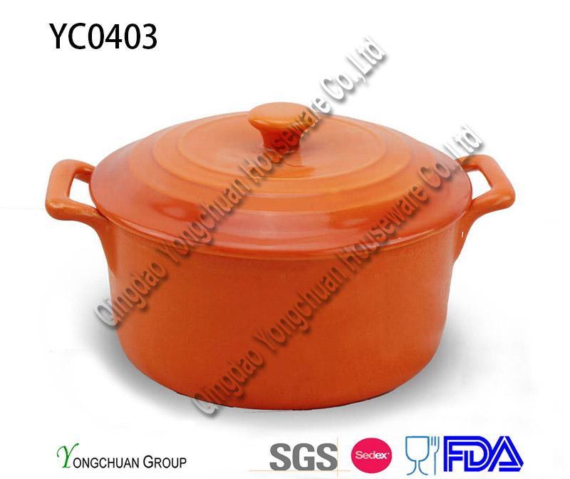 Stoneware Round Casserole
