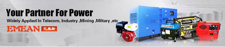 New 5kw Black Diesel Generator with Four Wheels