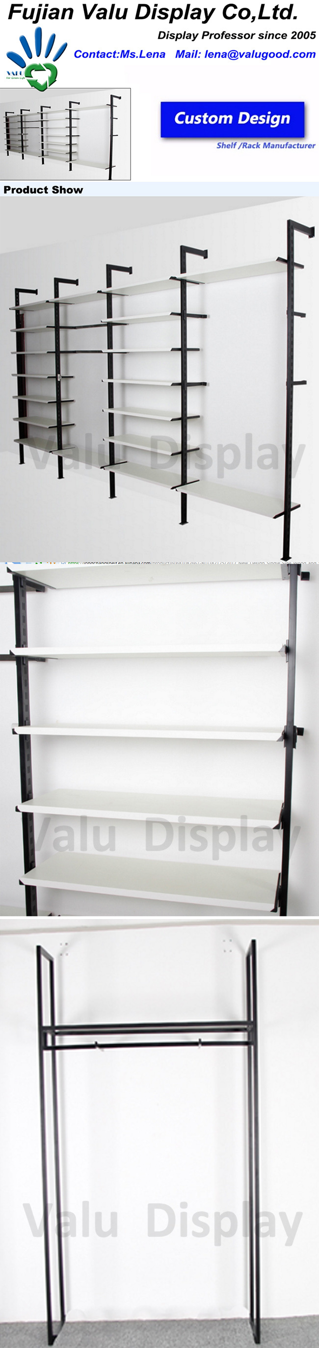 Stainless Steel Metal Clothes Shoes Garment Nesting Display Stand for Shop Fitting