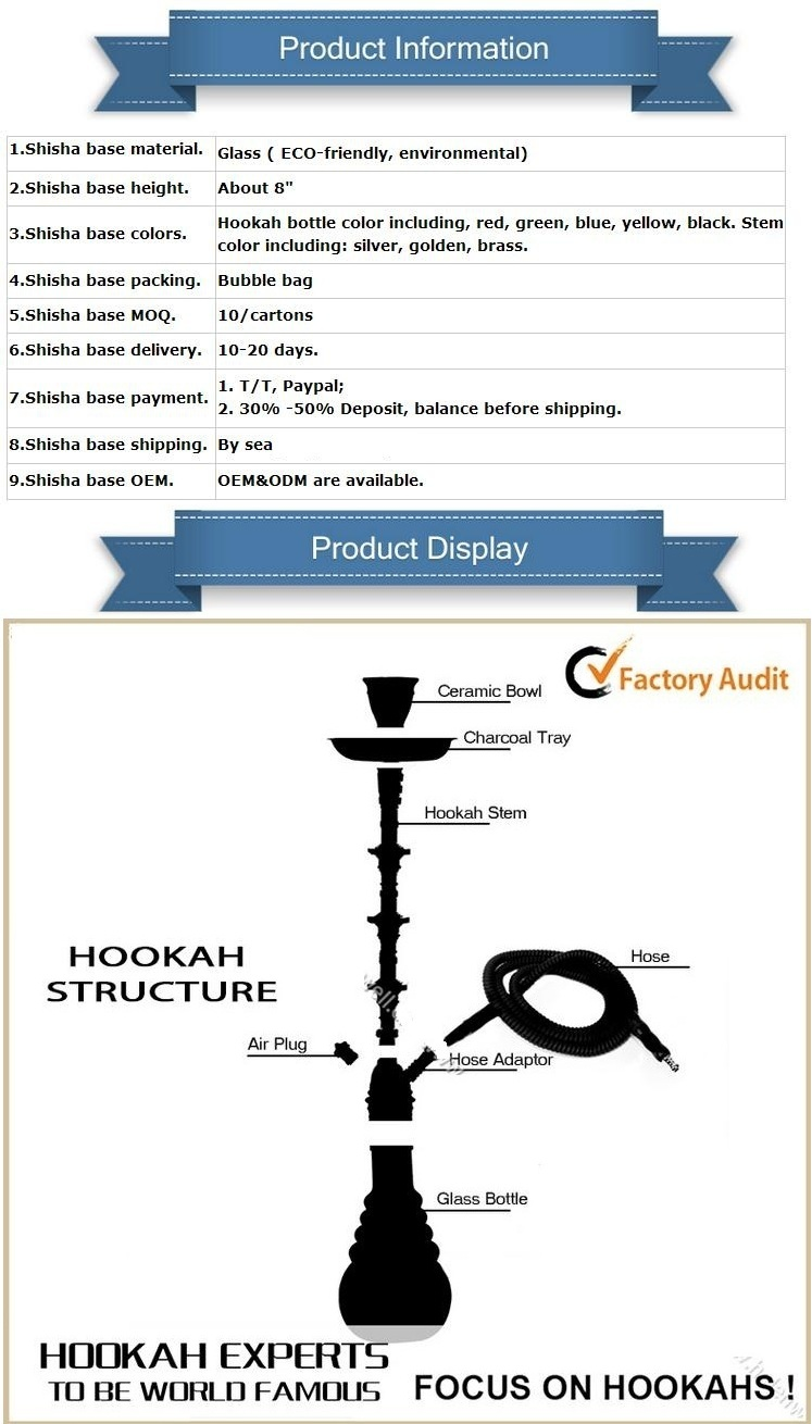 Top Quality Aluminum Nargile Smoking Pipe Shisha Hookah