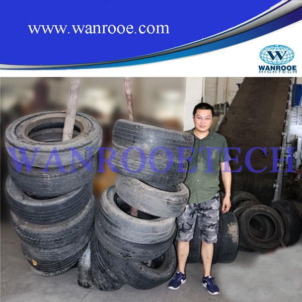 Plastic Wood/ Paper/ Metal /Tdf Car Tire / Tyre Recycling Shredder
