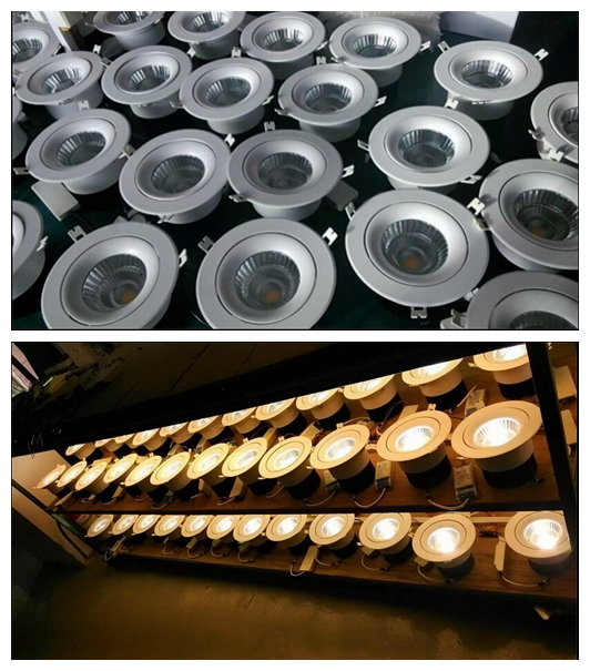 Dimmable Embedded COB Recessed Ceiling LED Downlight China