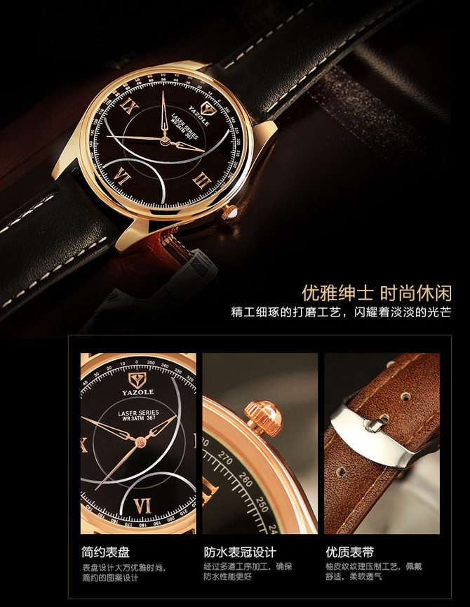 367 2017 Classical Business Mens Watch