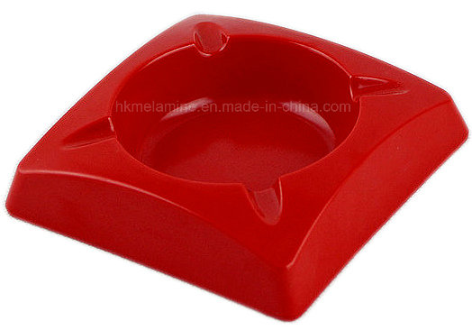 Square Melamine Ashtray with Solid Color