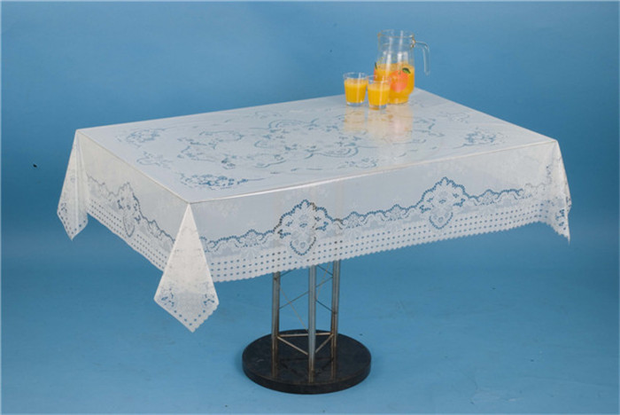 120*152cm New All in One Independent Design PVC Printed Transparent Tablecloth China Factory