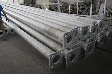 Hot DIP Galvanized Electric Steel Pole