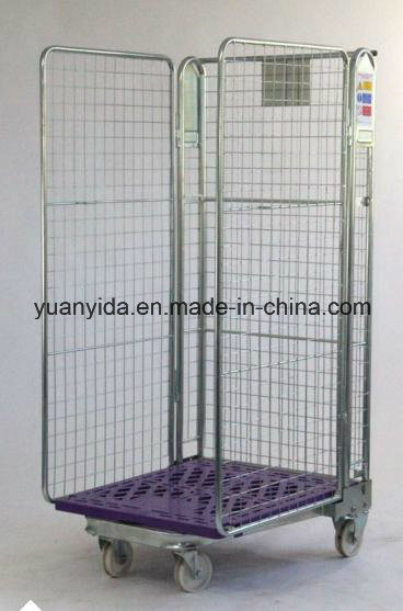 Plastic Cover Base Nestable Warehouse Storage Roll Container