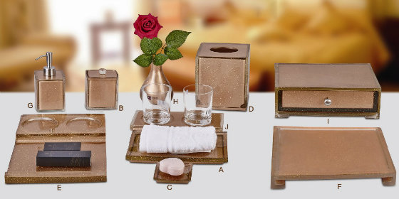 Newest Hotel Resin Bathroom Accessories Set