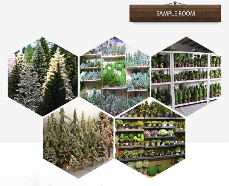 H4-8 Inches Hot Wholesale Plastic Artificial Topiary Garden Ornaments