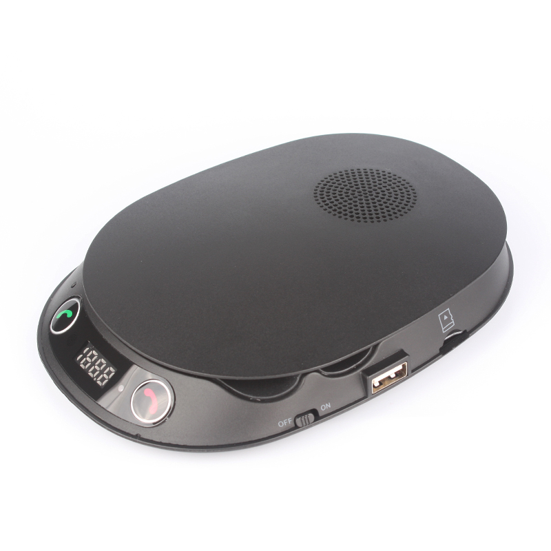 Bluetooth FM Hands-Free Car Speakerphone with Phone Holder