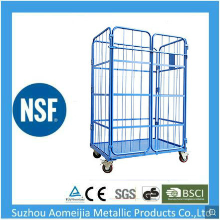 Folding Metal Mesh Roll Container Logistic Roll Cage China Suzhou Changshu Manufacture