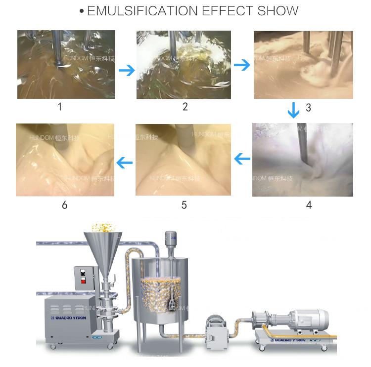 Batch High Shear Food Cream Emulsifier Mixer