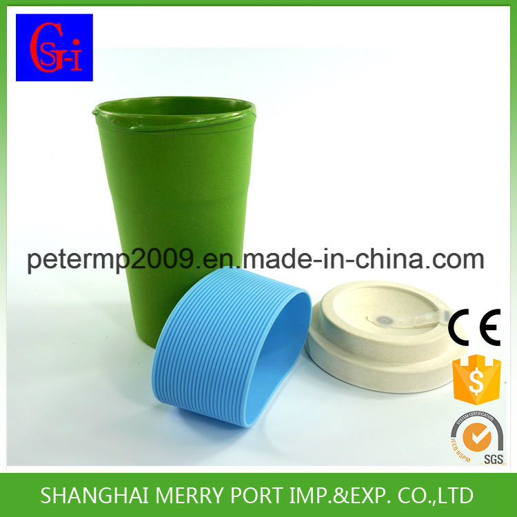 Non-Toxic Portable Biodegradable Bamboo Fiber Coffee Cup (SG-1104M)