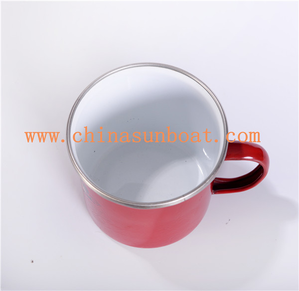 Sunboat Enamel Mug with Custom Size Water Cup Chinese Antique Drinking Cup Tableware