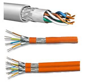 4pairs 23AWG LSZH SFTP Cat7 LAN Cable