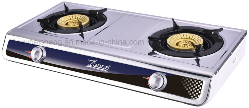 Double Burner Blue Fire Gas Stove