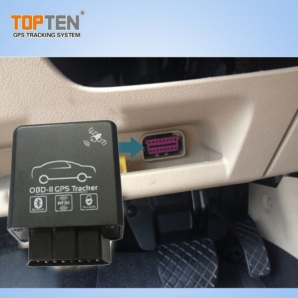 OBD2 GPS Car Tracker with 2.4G RFID for Fleet Management Reading Fuel Consumption Tk228-Ez