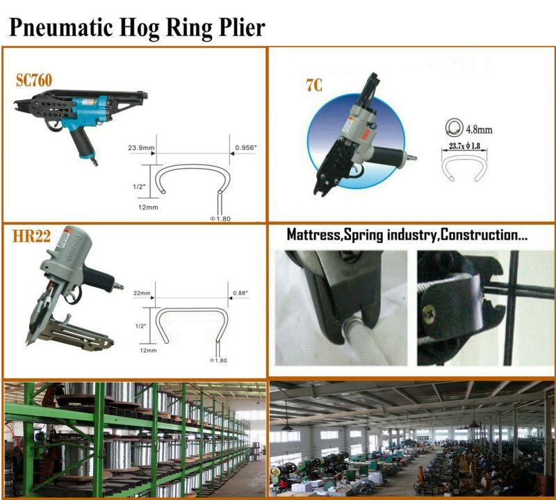 15dg50/Hr22/Sr15 Galvanized D Ring / Hog Ring
