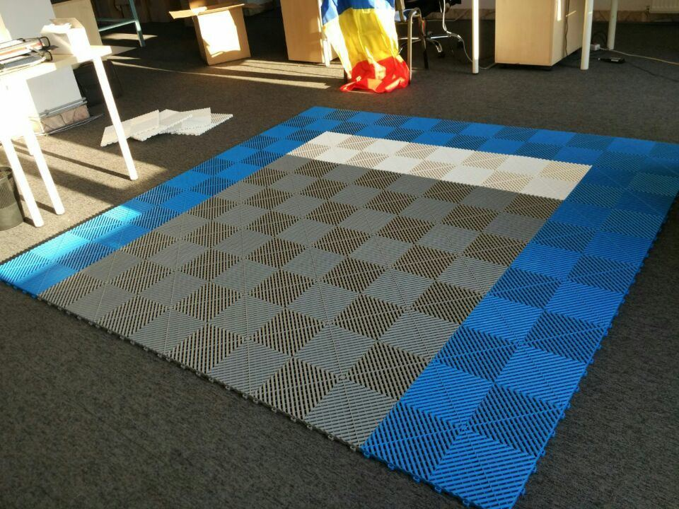 PP/PVC Anti-Slip Rubber/Plastic Garage Floor Mat