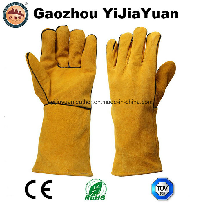 Ce En12477 Leather Protection Safety Hand Welding Glove with Kevlar Thread