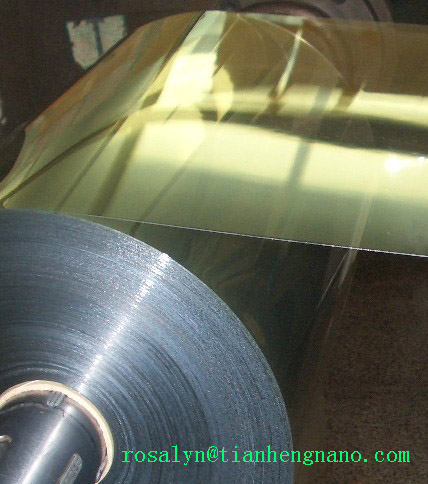 Vacuum Formed Gold and Silver Metallic PVC Plastic Film for Trays