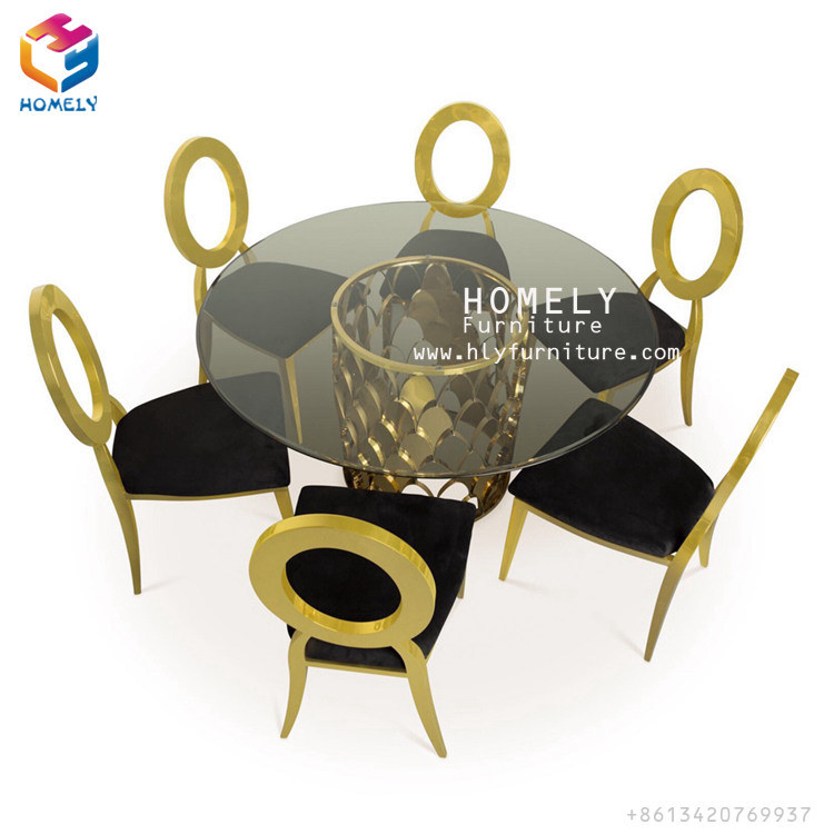 Hotel Events Party Banquet Leather Stainless Steel Wedding Dining Chair