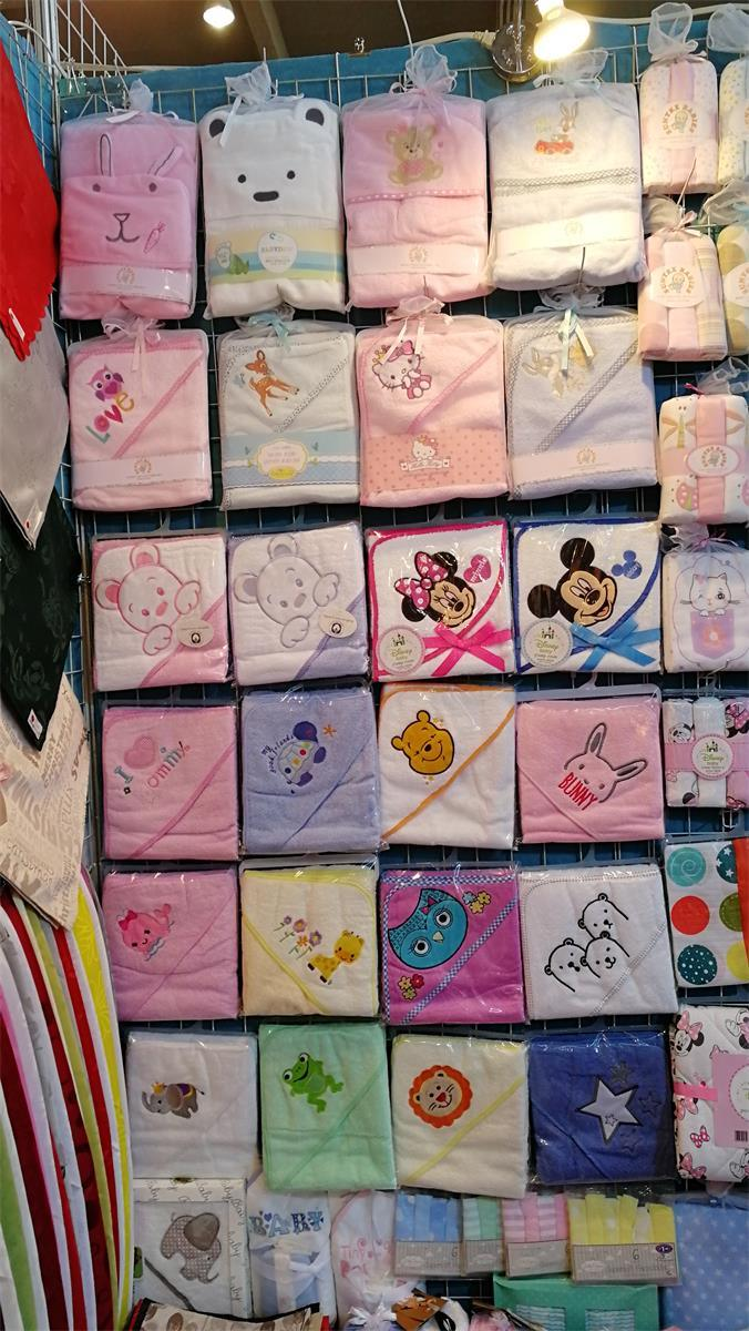 100% Cotton Baby Hooded Towel with Embroidery