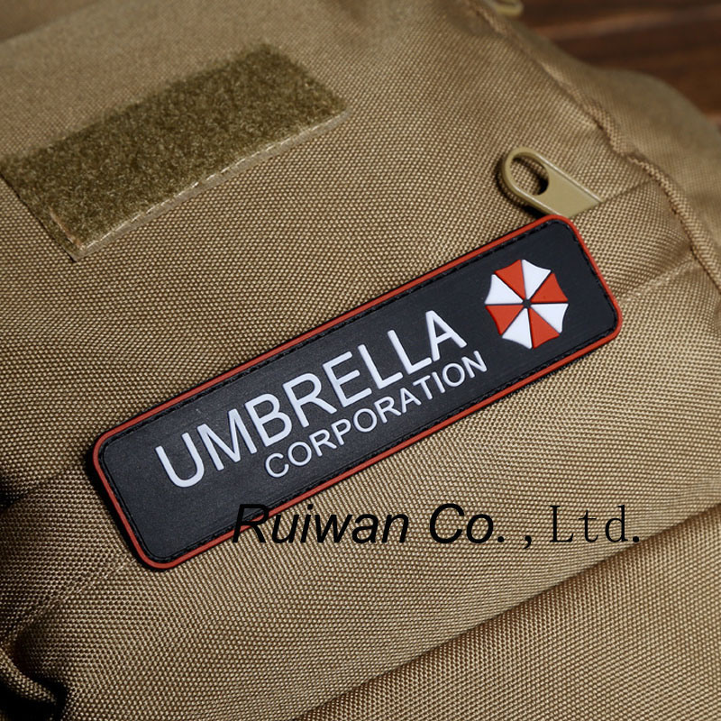 Custom Embossed 3D Garment Patch with Velcro Backside