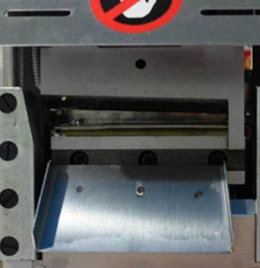 Webbing cutting machine