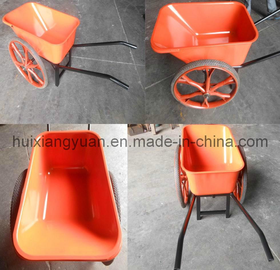 Wb1001p Heavy Duty Double Wheel Barrow Wheels Wheelbarrow