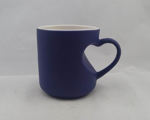 Heart Handle Color Change Mug, Stain Finished