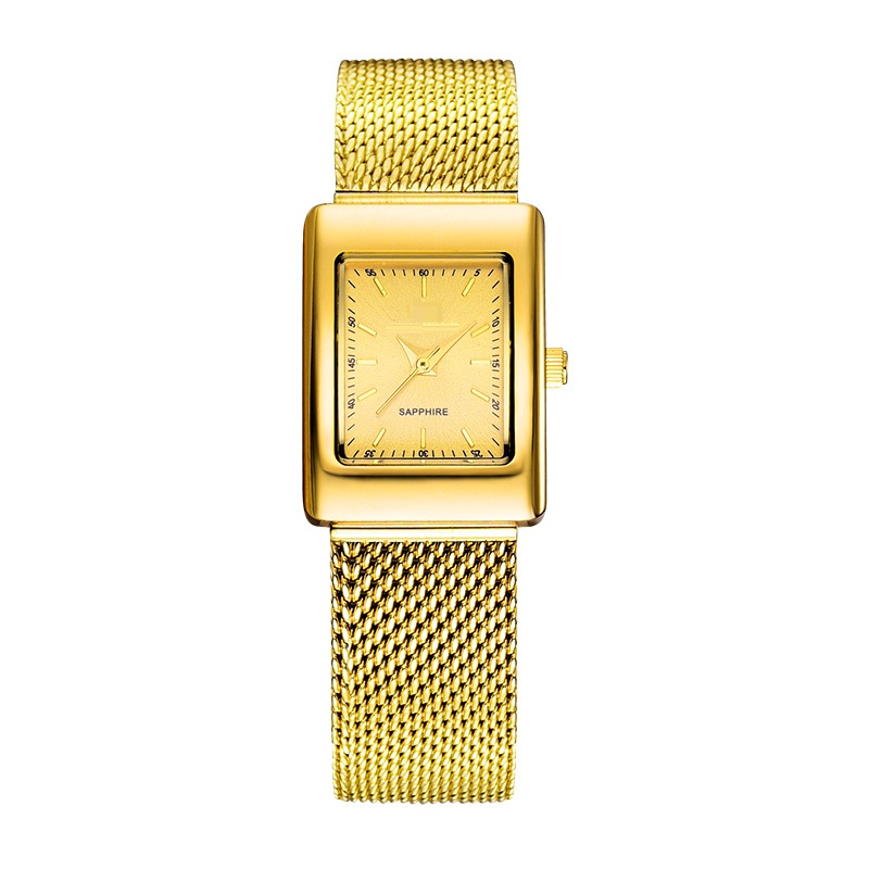 Ladies Wristwatch Fashion Net Band Gold Electro Plated Watch