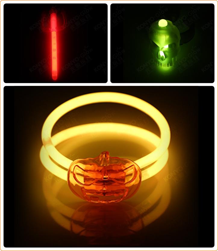 Halloween Glow Pumpkin Bracelet Set (HLW001)