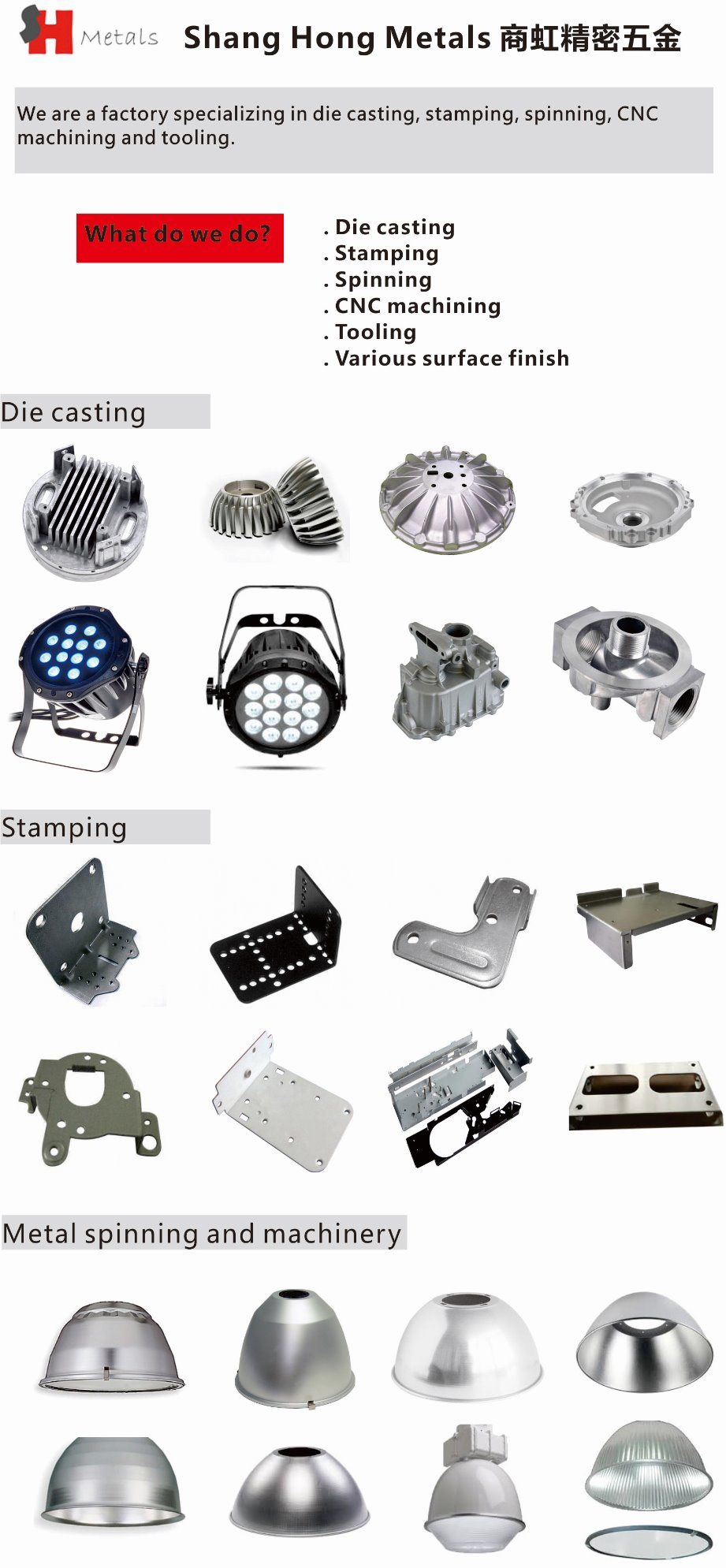 Aluminum Parts with Investment Casting / Die Casting / Die Casting Factory