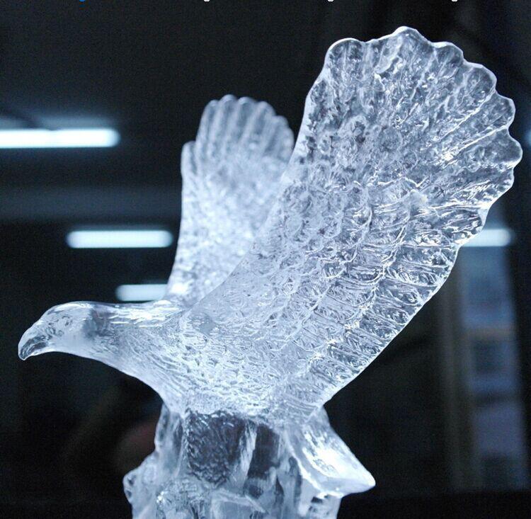 Crystal Animal Eagle Statue Office Decoration Crystal Figurine Craft