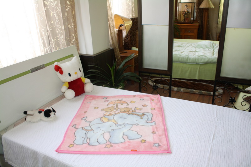 100%Acrylic Baby Sac Blanket (NMQ-LBB009)