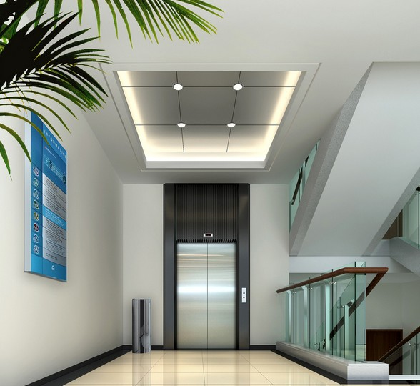 Ce Good Decoration and Low Noise Passenger Lift Without Machine Room