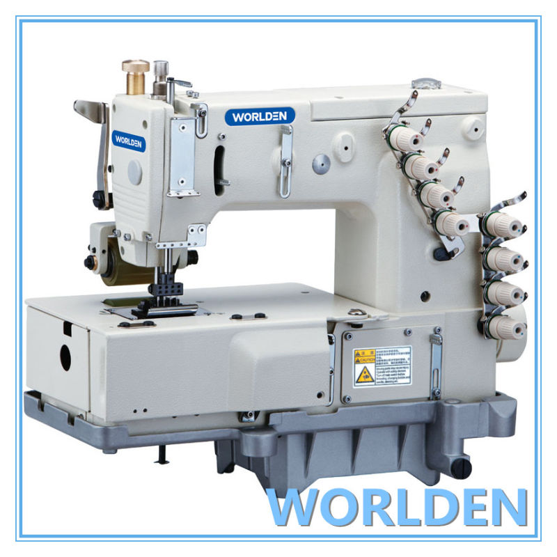 WD-1404P Four Needle Flat Bed Double Chain Stitch Sewing Machine