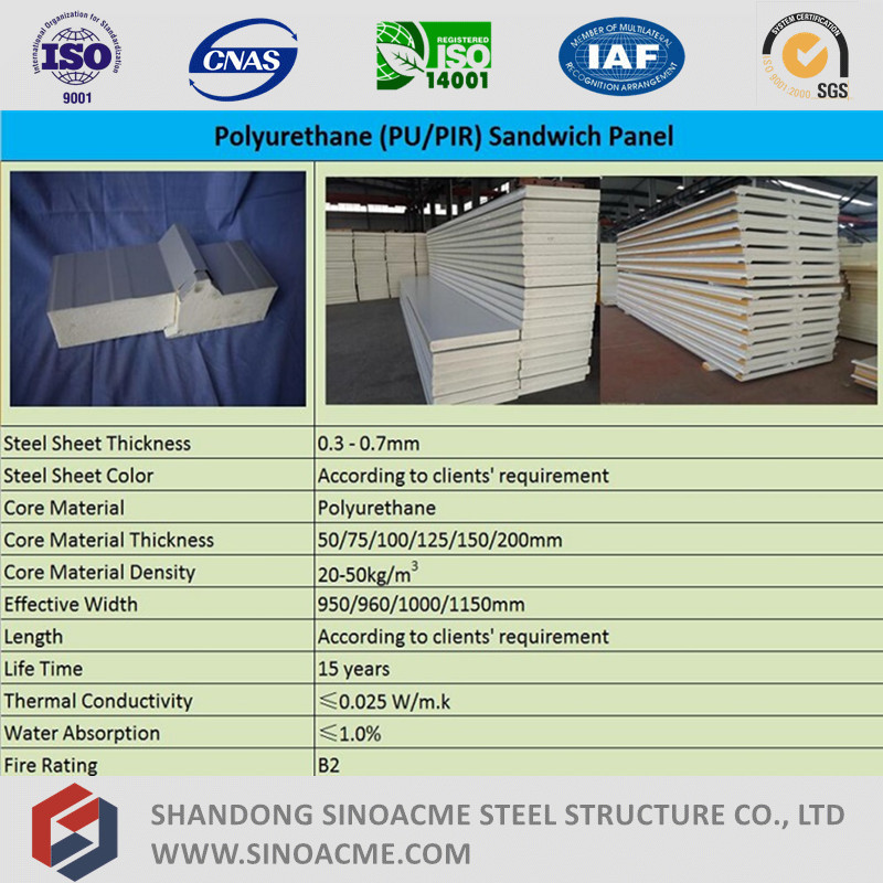Low Cost Fiber Glass Wool Sandwich Panel