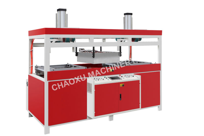 Double Heating Auto Luggagevacuum Forming Thermoforming Machine