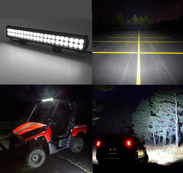 7200lm Combo Beams 12 72W LED Light Bar Waterproof for Jeep off Road Van Camper Wagon ATV Awd SUV 4WD 4X4 Pickup Offroad