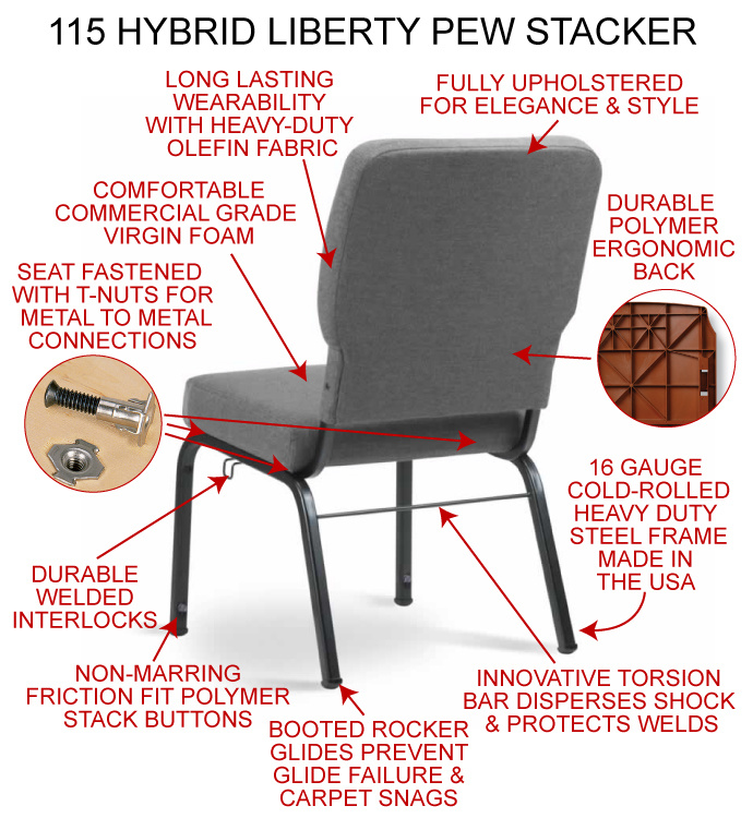 Wholesale Fabric Metal Church Chair Auditorium Chair with Arm