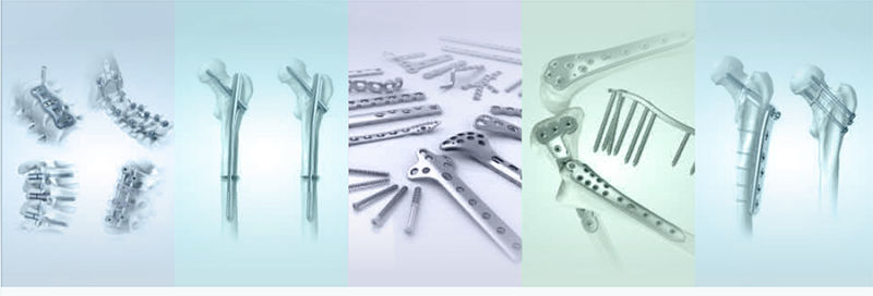 Proximal Lateral Tibia Plate Left Orthopedic Implant Locking Bone Plate and Screws