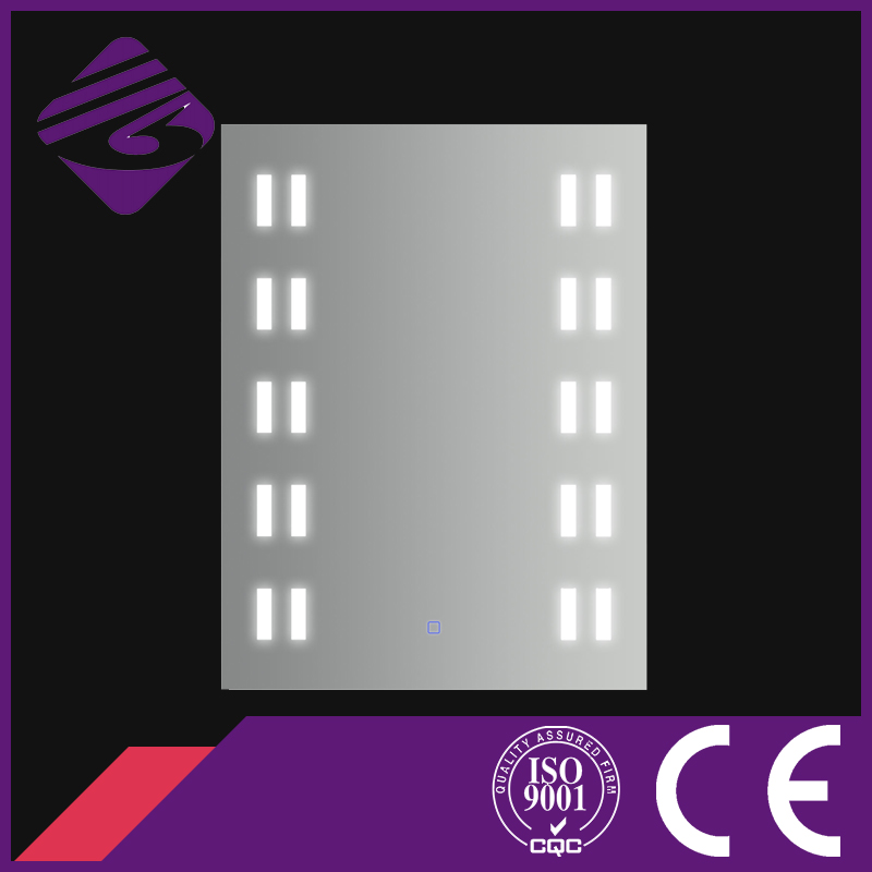 Jnh150 Newest Modern Rectangle Illuminating LED Mirror Glass for Hotel