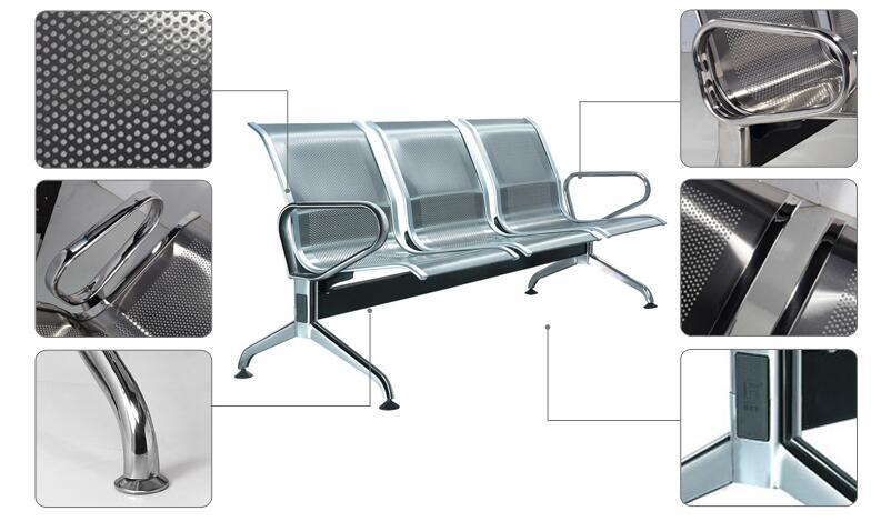Ss Lacquer Waiting Chair Hospital Public Chair Airport Chair (DX629)