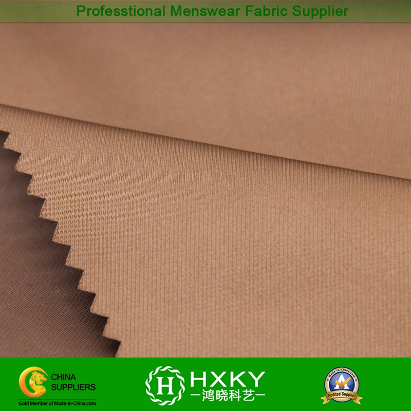 Semi-Dull with Twill Imitation Memory Polyester Fabric for Down Coat