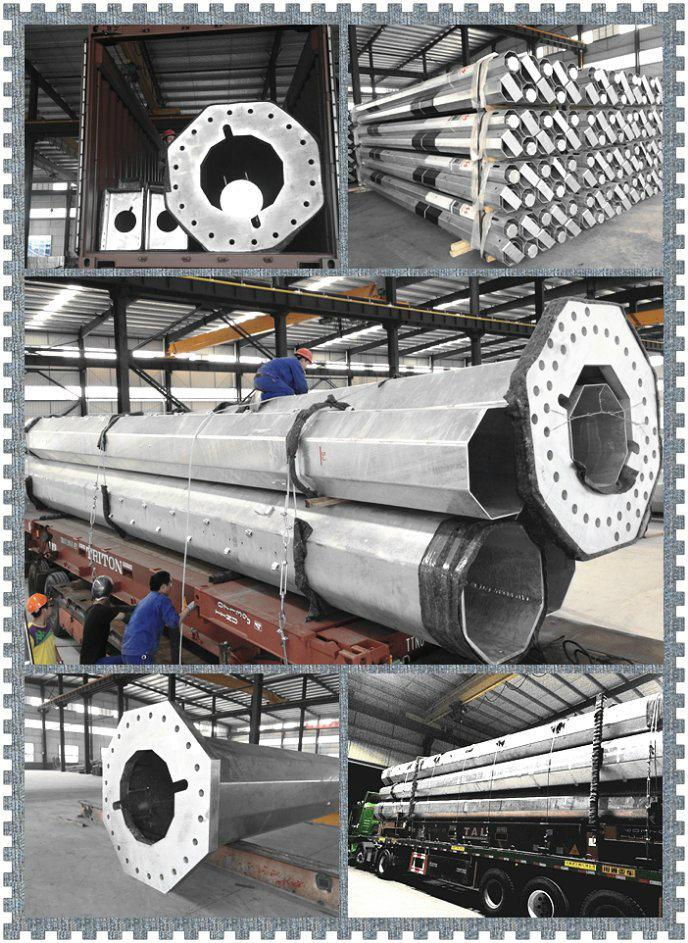 Galvanizaed Octagonal Transmission Line Steel Pole